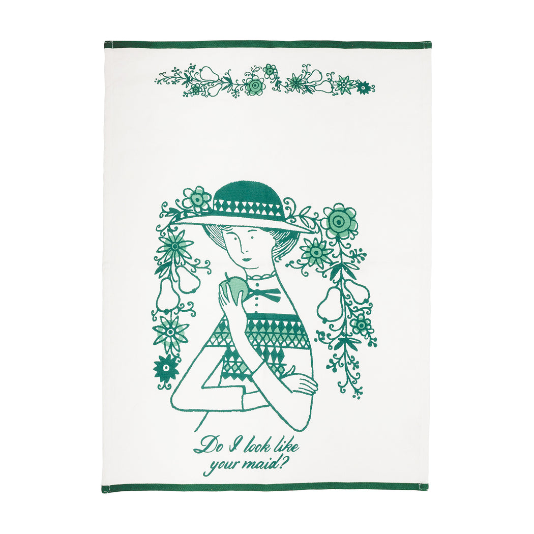 """Do I Look Like Your Maid?"" Dish Towel - Fishs Eddy"