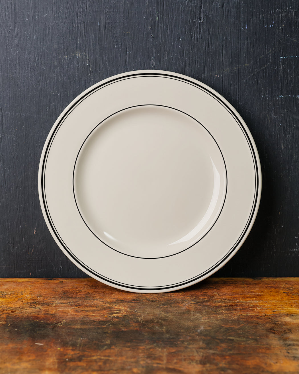 Black Band Dinner Plate - Fishs Eddy