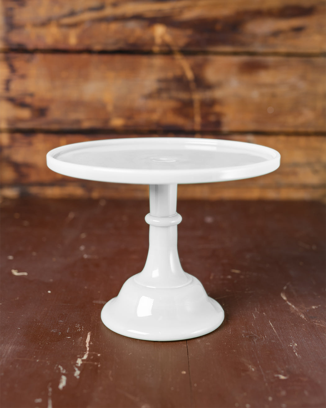 "Milk Glass Cake Stand (10"") - Fishs Eddy"