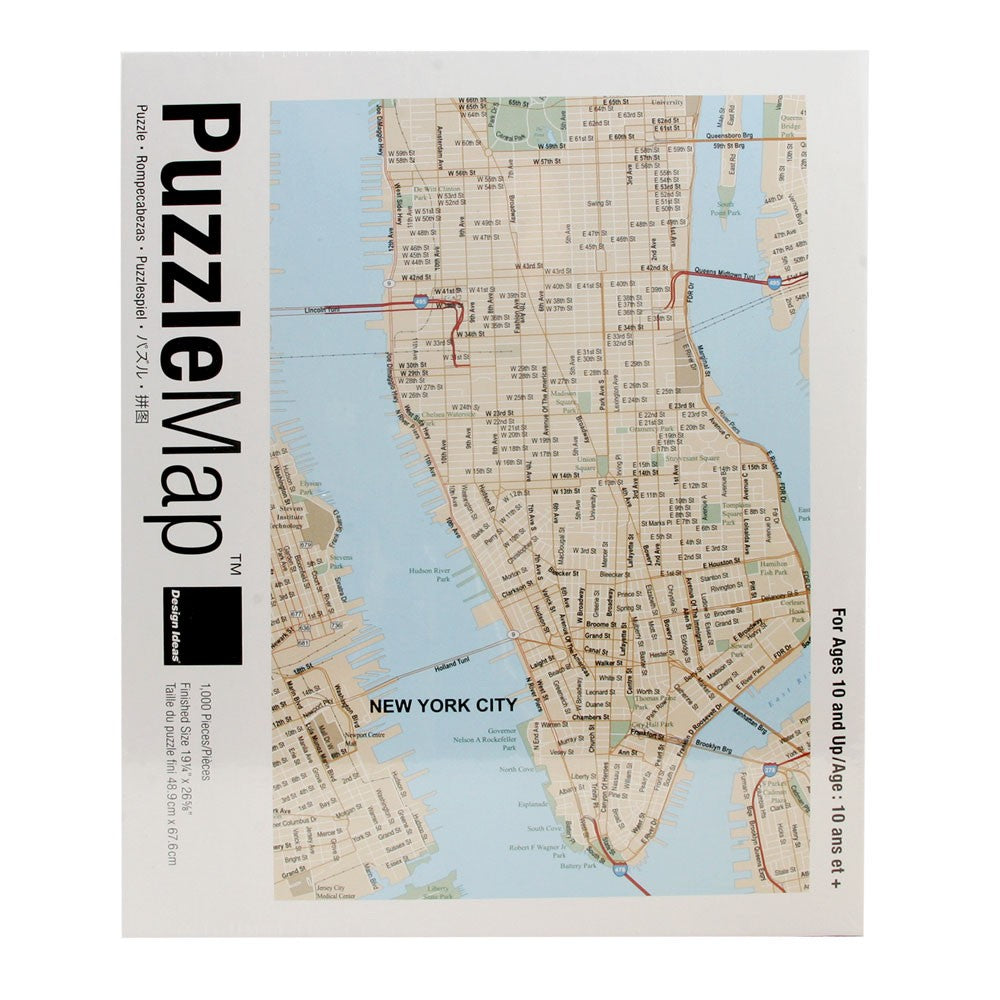 New York City Puzzle Map - Fishs Eddy
