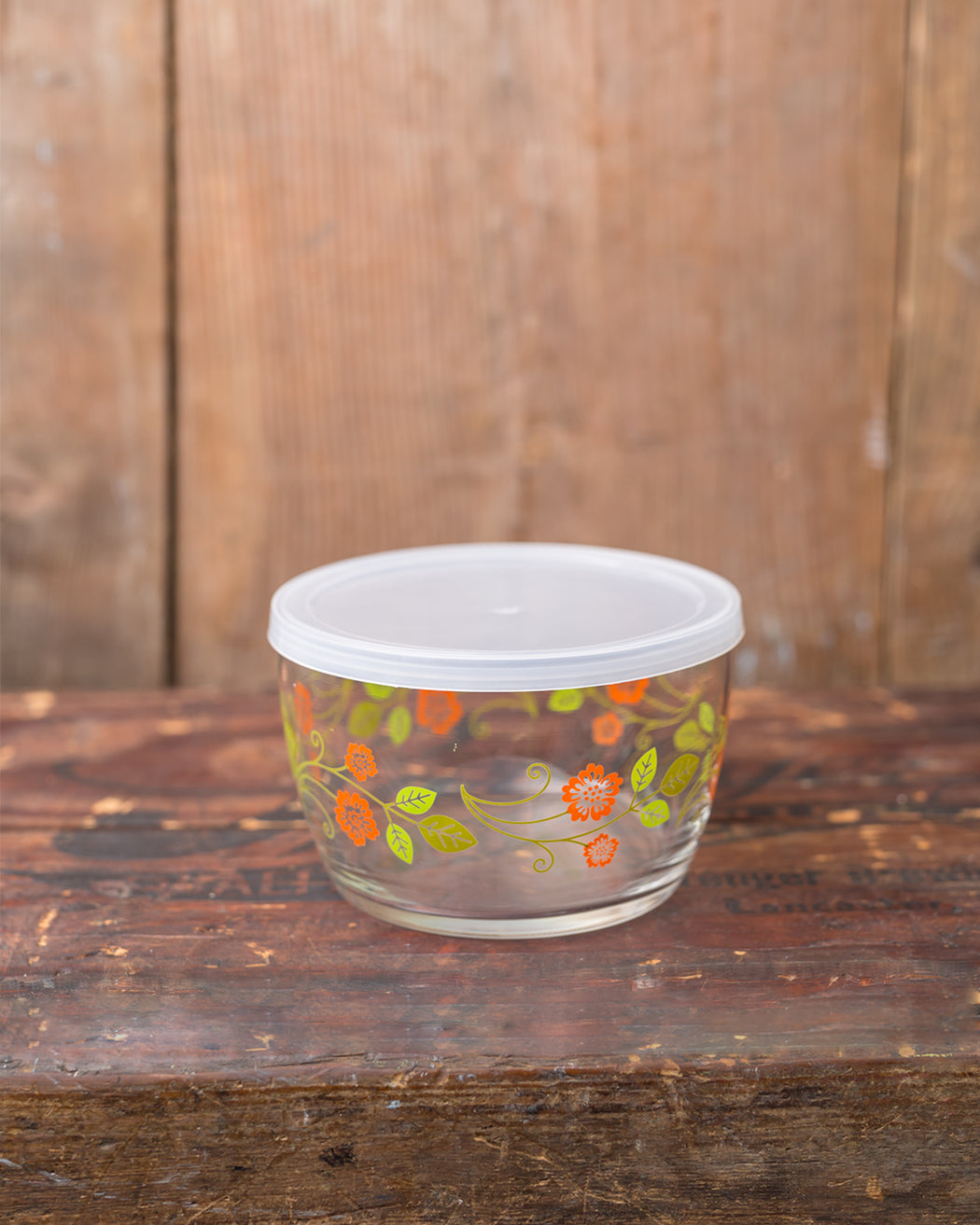 Storage Bowl - Orange Flower - Fishs Eddy