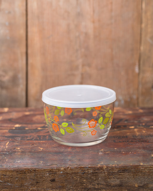 Storage Bowl - Orange Flower