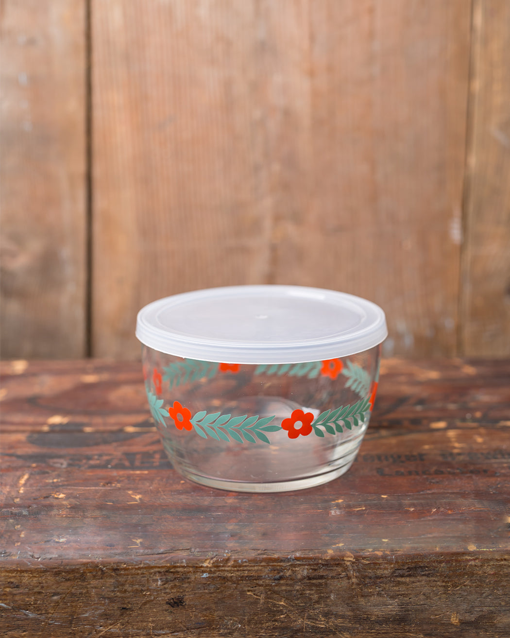 Storage Bowl - Red Daisy - Fishs Eddy