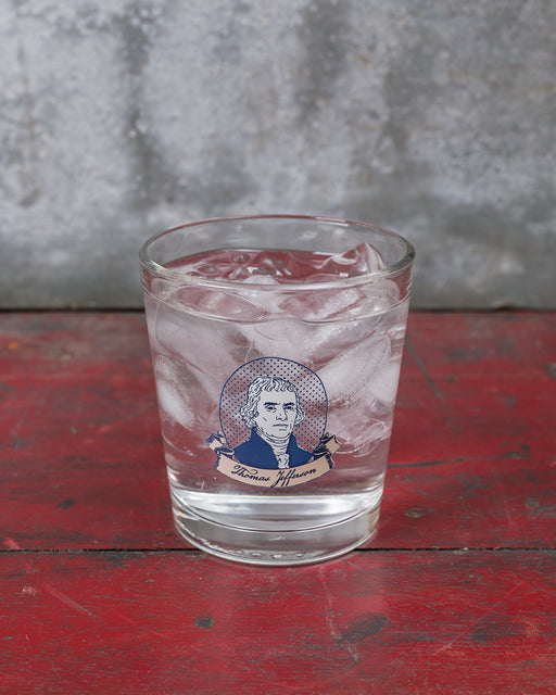 Thomas Jefferson Double Old Fashioned Glass
