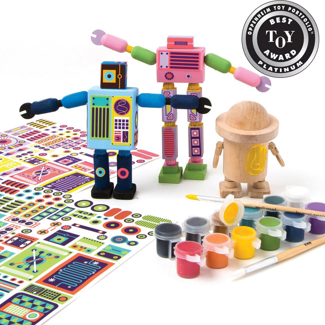 Kid Made Modern Wooden Robot Kit - Fishs Eddy