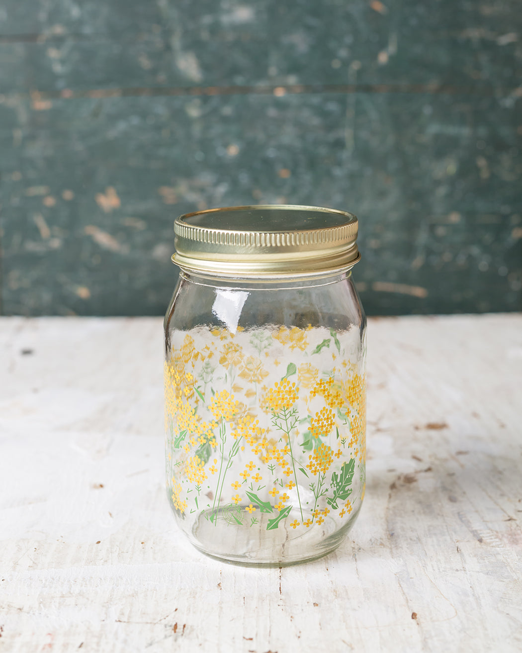 Flowers Drinking Jar - Fishs Eddy