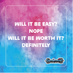 Gym Devotion-Motivational quotes-Will it be easy? Nope. Will it be worth it? Definitely