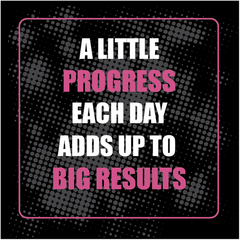 Gym Devotion Motivational quote-A little progress each day adds up to big results.