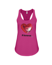 Women's tank topFalling in love with fitness woman's fitness tank - Gym Devotion