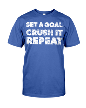 Men's shirtsSet a goal, crush it, repeat men's workout shirt - Gym Devotion