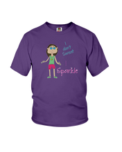 Youth shirtI don't sweat, I sparkle kids fitness shirt - Gym Devotion