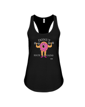 Donut hate the gains woman's workout tank - Gym Devotion