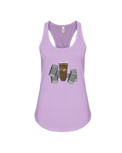 Women's tank topCoffee and weights women's workout tank top - Gym Devotion