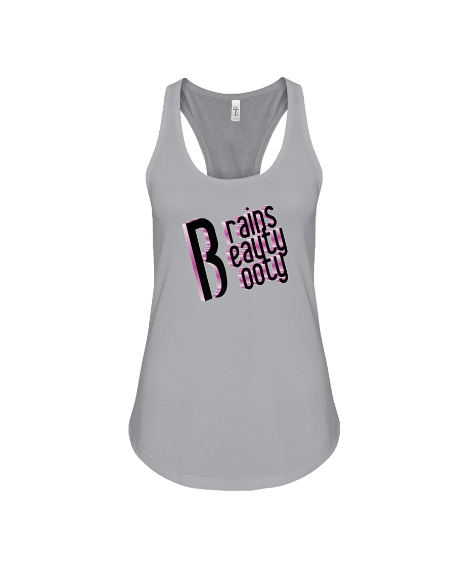 Women's tank topBrains, beauty, booty woman's workout tank top - Gym Devotion