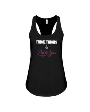 Woman's tank topThick thighs and pretty eyes woman's fitness tank - Gym Devotion