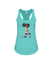 Woman's tank topJust U vs U Lunge Workout Tank Top - Gym Devotion