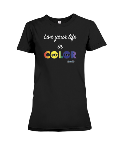 Live your life in color fitness tee shirt - Gym Devotion