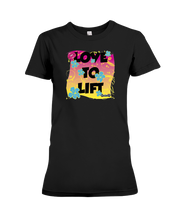 Love to lift fitness tee shirt - Gym Devotion
