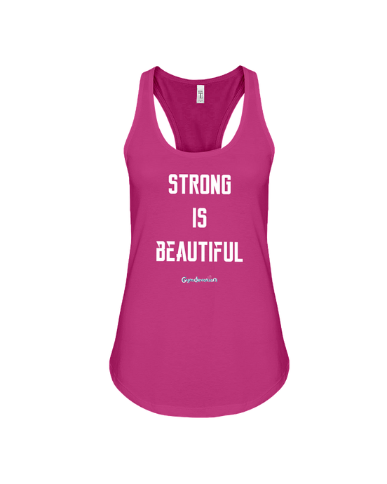 Strong is beautiful fitness tank top - Gym Devotion
