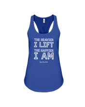 The heavier I lift the happier I am tank top - Gym Devotion