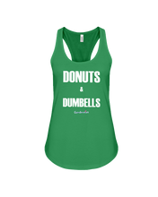 Donuts and dumbbells tank top - Gym Devotion
