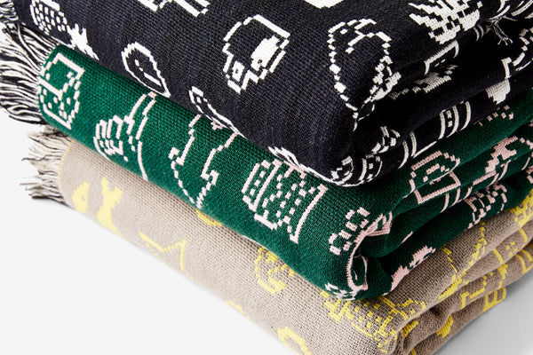 Cairo Throw - Green/Pink
