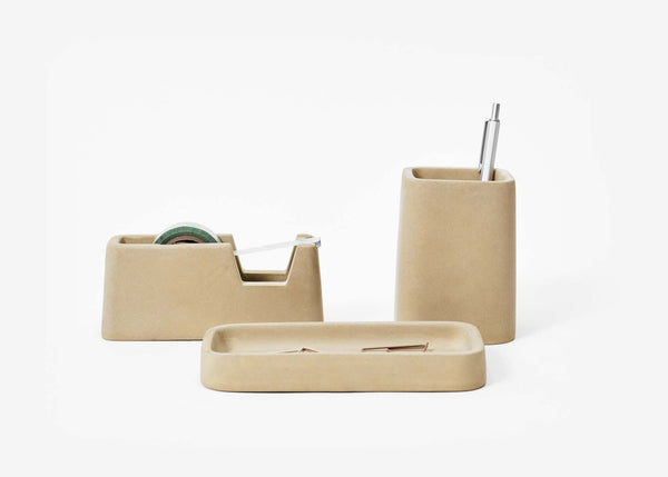 Concrete Desk Set - Sand
