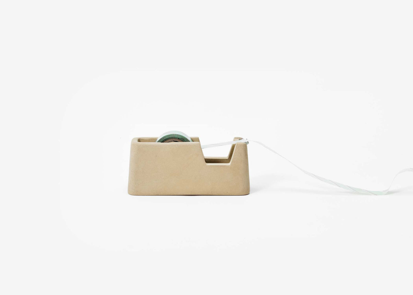 Small Concrete Tape Dispenser - Sand