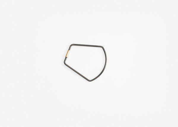 Contour Key Ring - Black