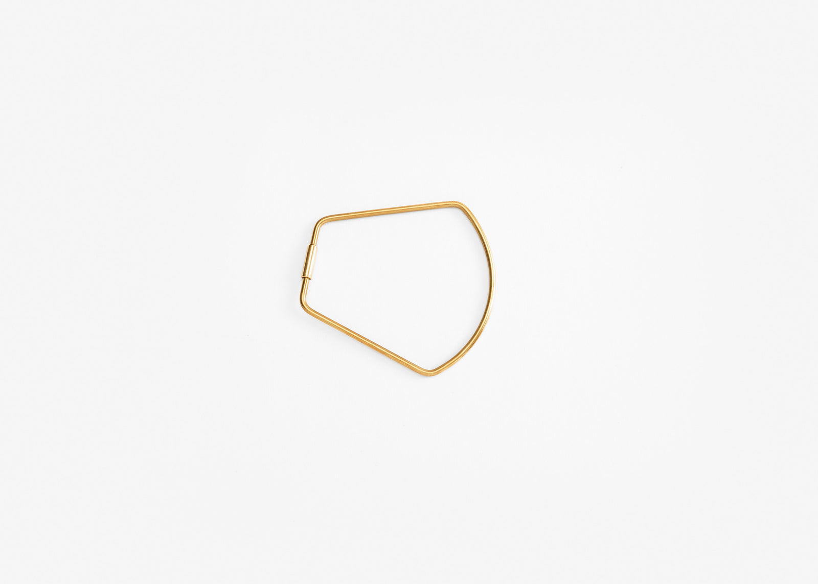 Contour Key Ring - Brass/Bell