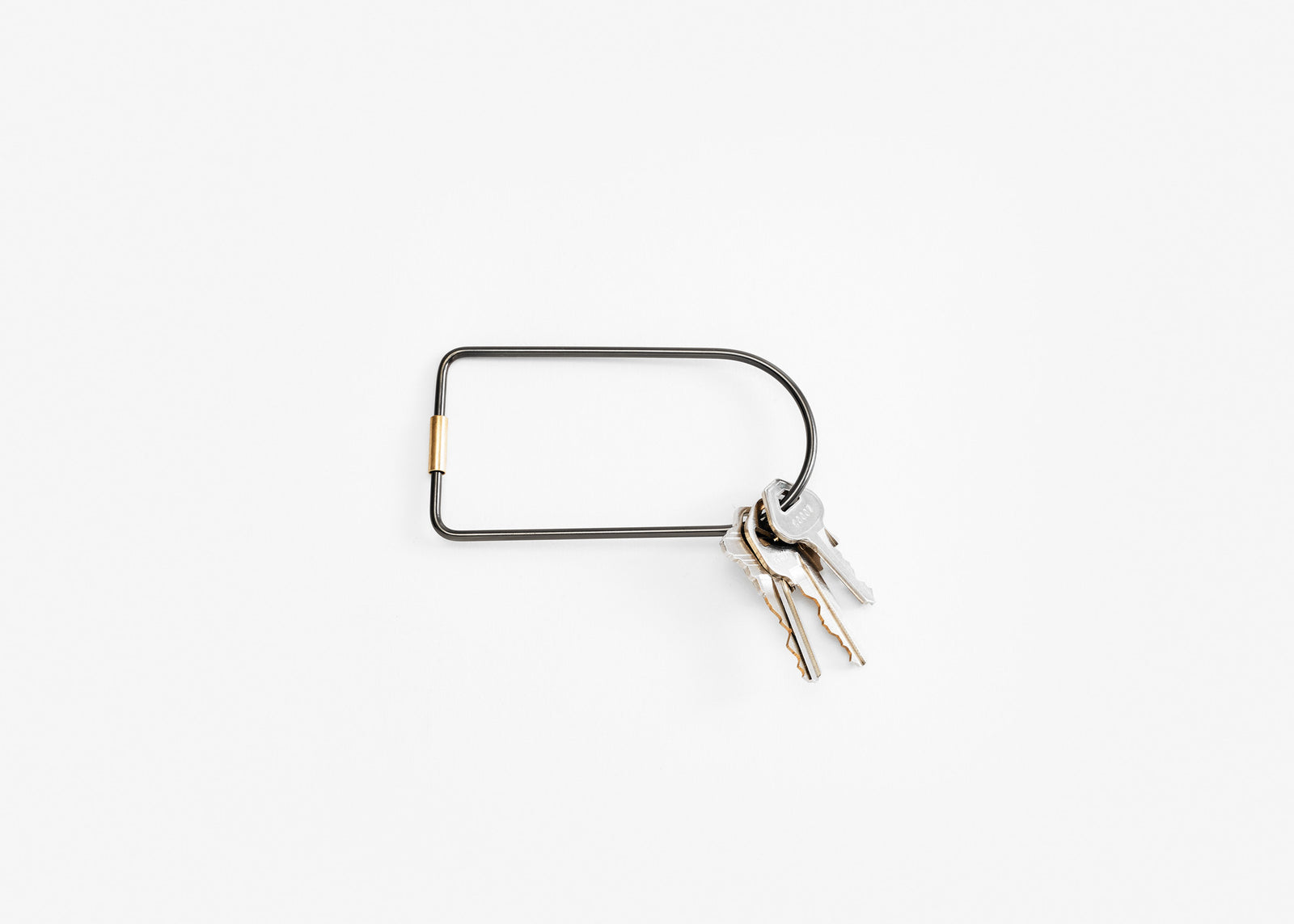 Contour Key Ring - Black/Bend