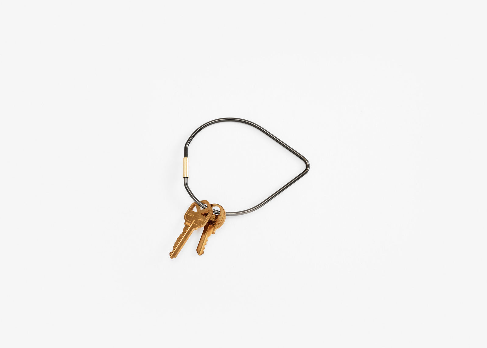 Contour Key Ring - Black/Drop
