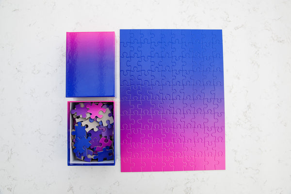 Gradient Puzzle Small - Blue/Pink