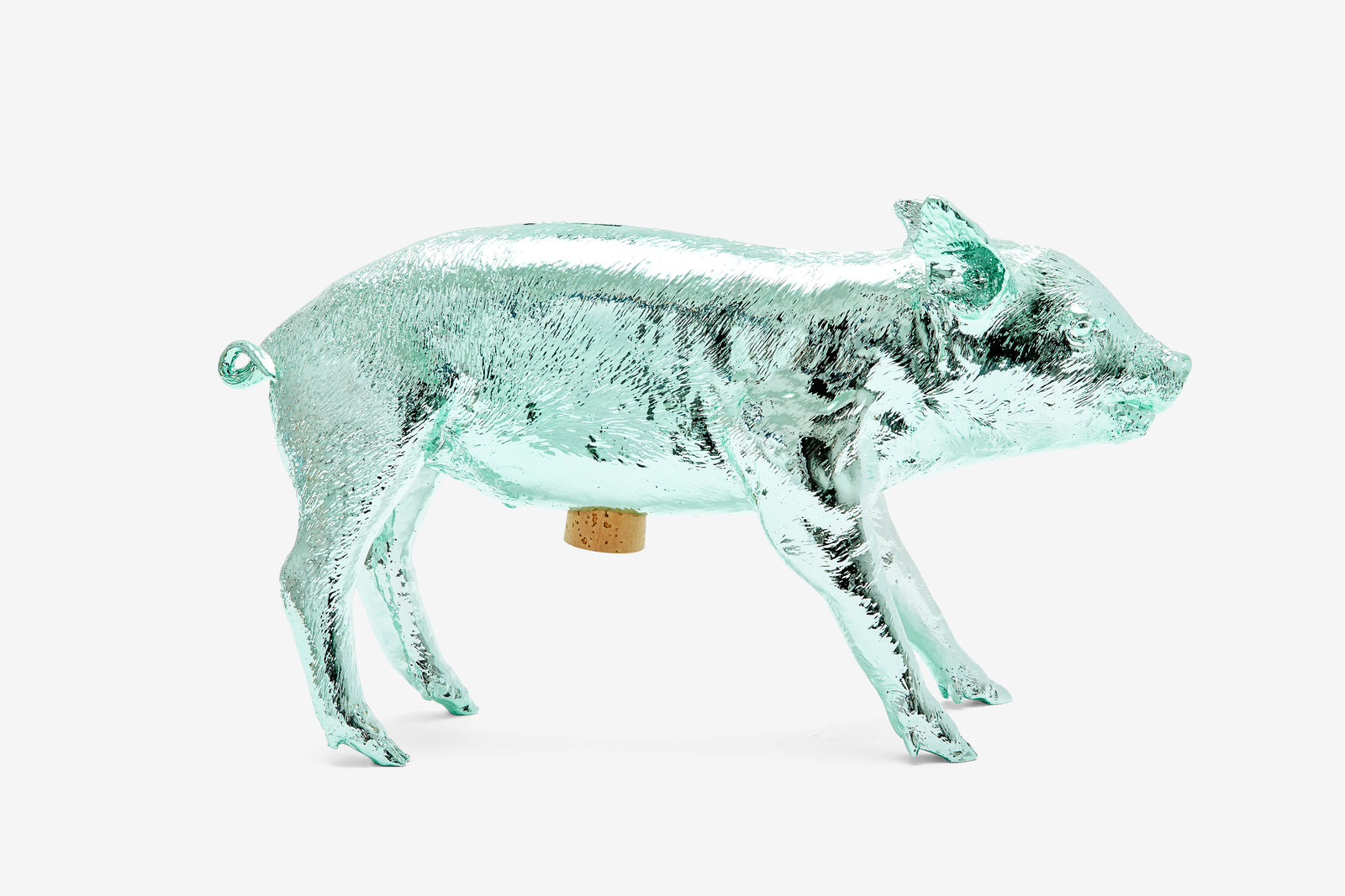 Reality Bank in the Form of a Pig - Mint Chrome