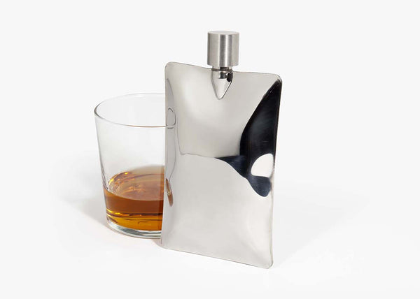 Liquid Body Flask - Chrome