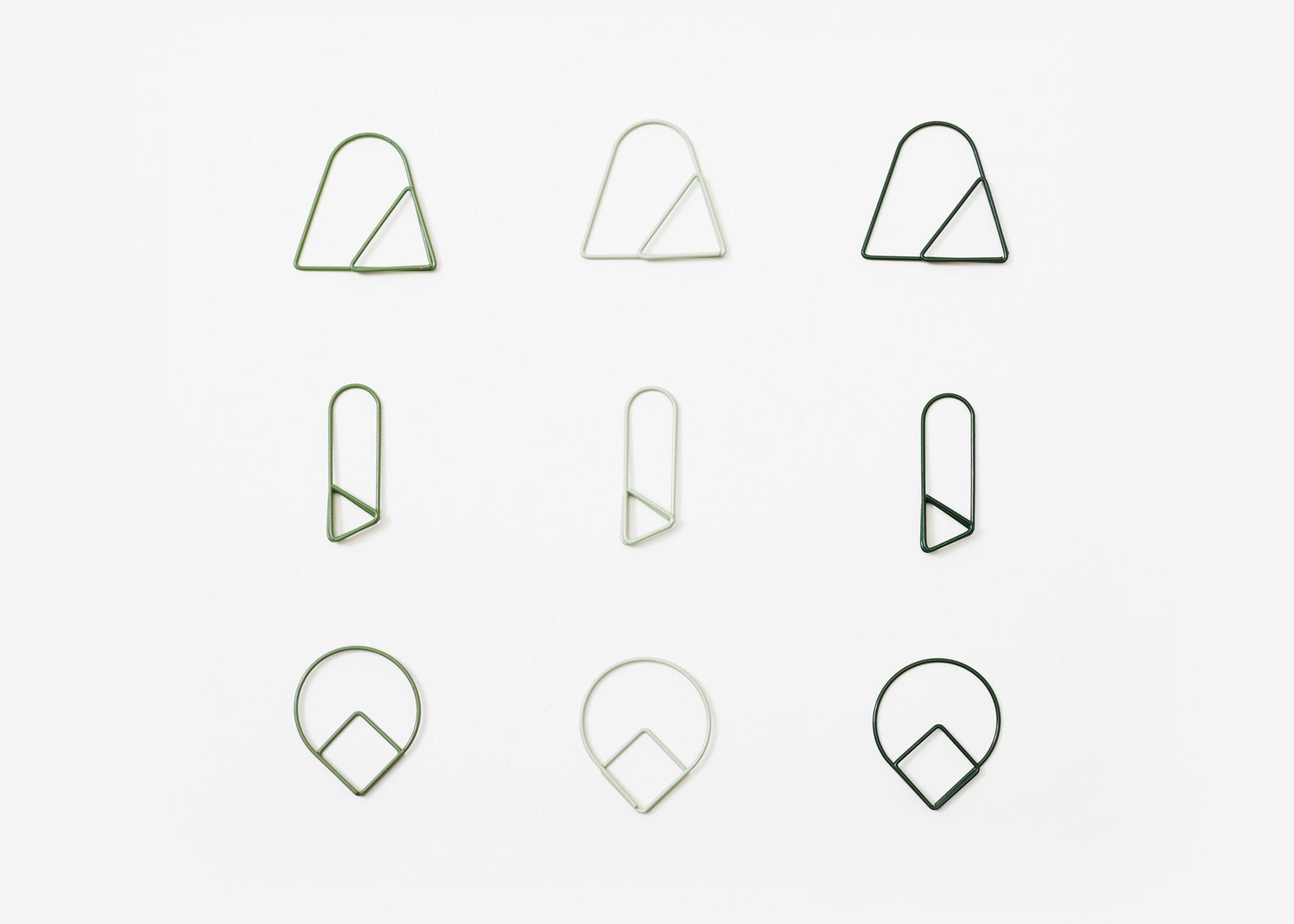Paper Clips - Greens