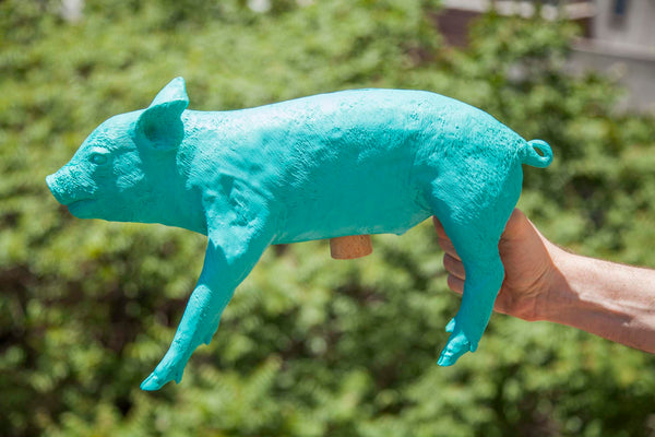 Reality Bank in the Form of a Pig - Teal