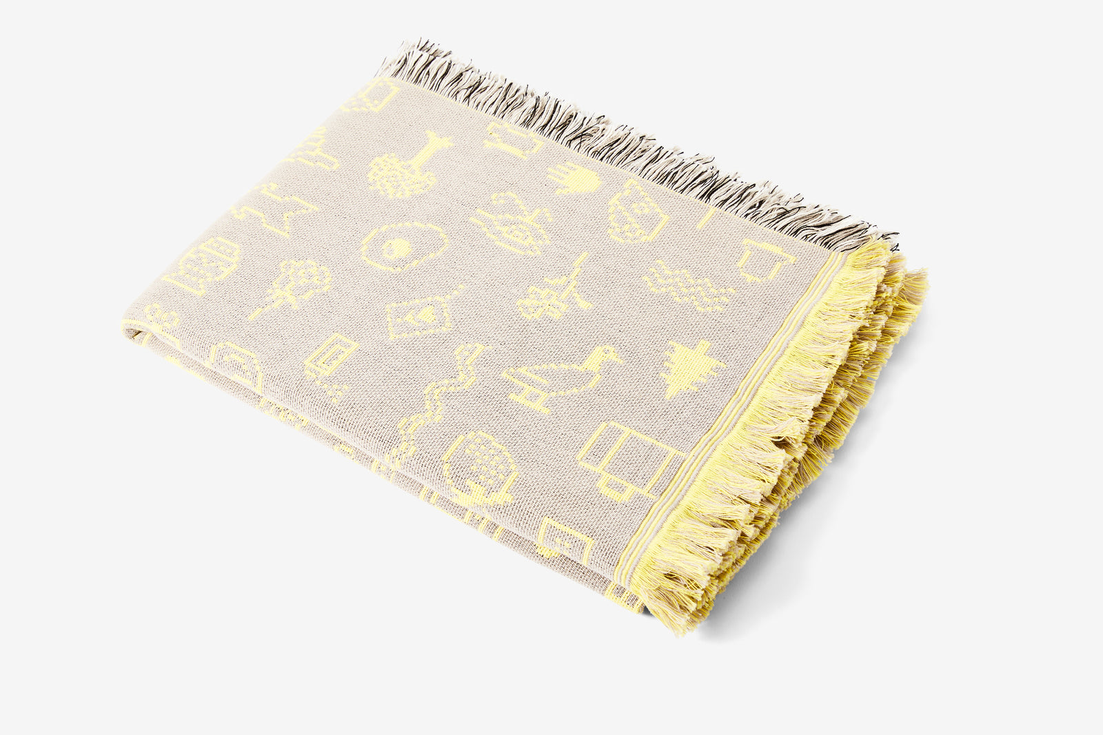 Cairo Throw - Grey/Yellow