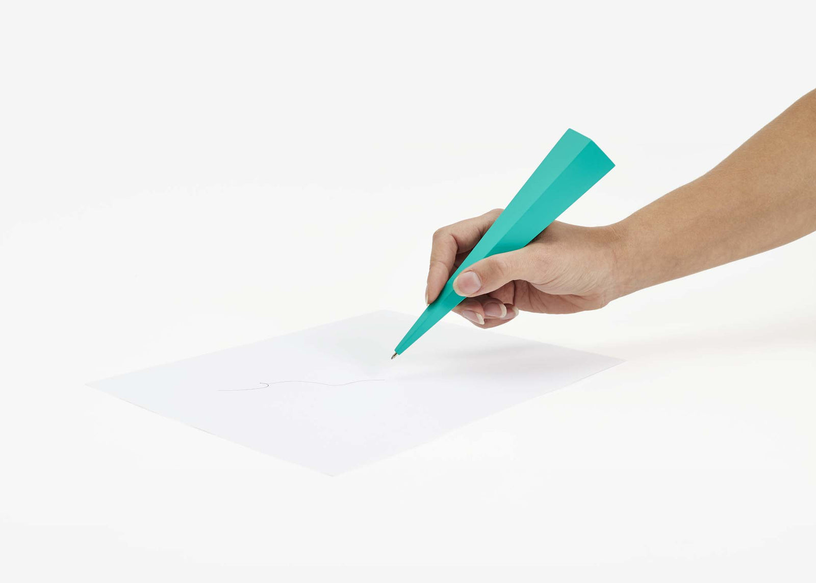 Standing Pen - Green Pentagon