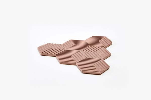 Table Tiles - Concrete - Antique Pink