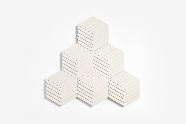Table Tiles - Concrete - White