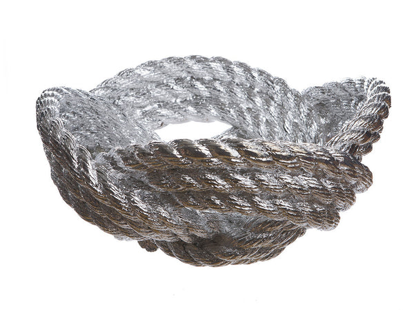 Reality Knotted Rope Bowl - Chrome