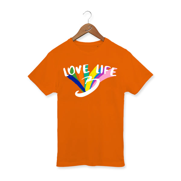 BRATAYLEYS LOVE LIFE ORANGE TEE