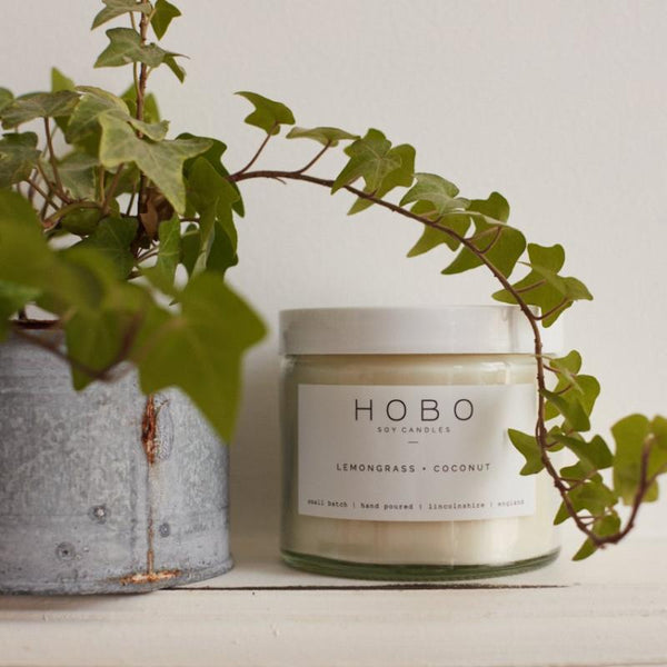 HOBO Soy Candle - Lemongrass + Coconut