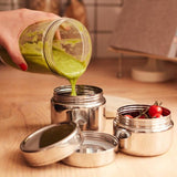 Stainless steel circle snack pot large