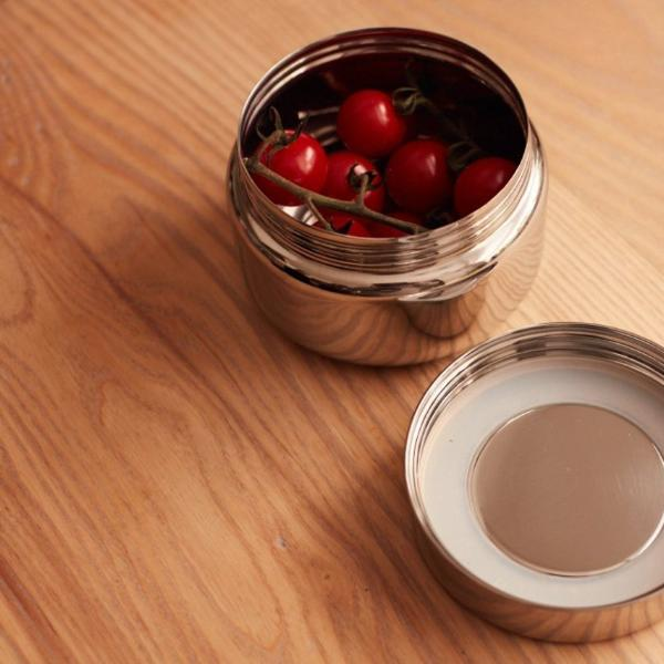 Stainless steel circle snack pot small
