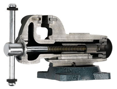 "Combination Pipe and Bench 4-1/2"" Jaw Round Channel Vise with Swivel Base"