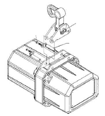 2-Ton Lug Mount Assembly For Electric Hoist