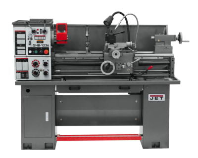 GHB-1236 Geared Head Bench Lathe with Newall DP700 & Taper Attachment in Jet Metalworking, Turning,