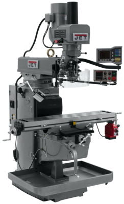JTM-1050EVS2/230 Mill With 3-Axis Acu-Rite VUE DRO (Knee) With X-Axis Powerfeed and Air Powered Draw